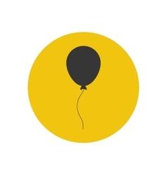 Balloon silhouette vector