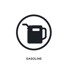 Black gasoline isolated icon simple element from vector
