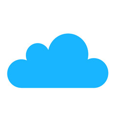 blue cloud icons isolated on background modern fl vector image