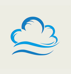 Bstract blue cloud vector