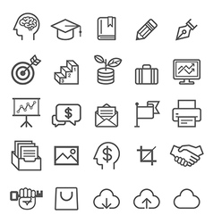 Business education line icons vector image