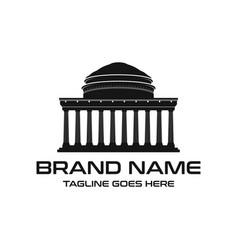 campus building logo vector image