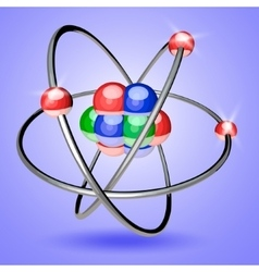 Colorful Atom 3d vector