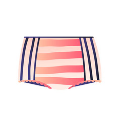 Cute striped panties with retro design isolated on vector