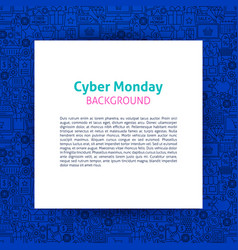 cyber monday paper template vector image