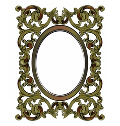 Decor frame with ornaments vector image