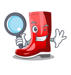 Detective single of boots isolated on mascot vector