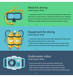 Diving equipment colored vector image