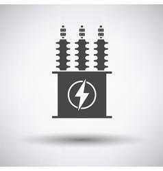 Electric transformer icon vector image