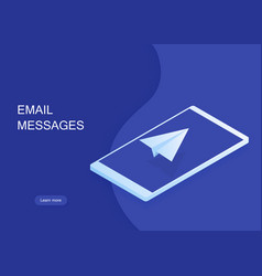 email and message sending concept vector image