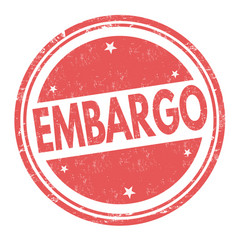 embargo sign or stamp vector image