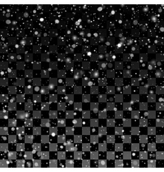 Falling snow on the transparent background vector