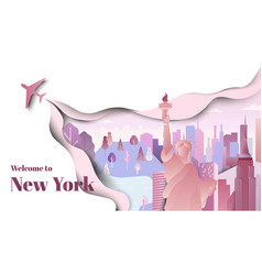 famous places in new york united states vector image