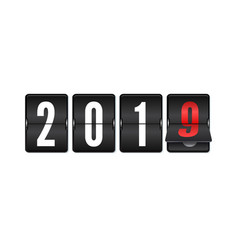flip countdown timer with changing numbers of year vector image