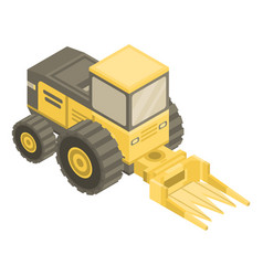 forage harvester icon isometric style vector image