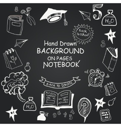 Freehand drawing chalkboard icons vector image