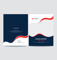 Front and back annual report cover design vector