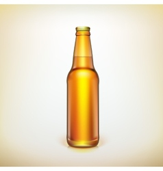 Glass beer brown bottle Product packing vector
