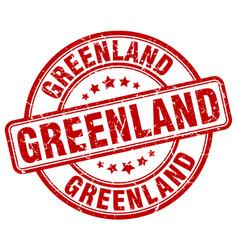 Greenland red grunge round vintage rubber stamp vector