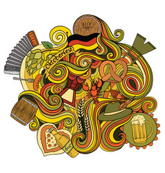 Hand drawn cartoon doodle for a octoberfest vector