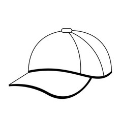 hat cap wear black and white vector image