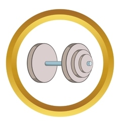 Heavy dumbbell icon vector