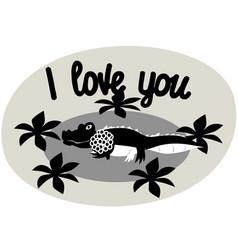 I love you the phrase expressing the idea vector