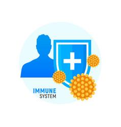 immune system icon logo health bacteria vector image