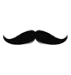 isolated moustache silhouette vector image