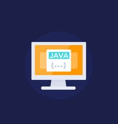 Java coding programming icon vector