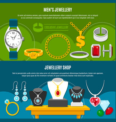 jewelry shop banners vector image