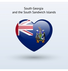 Love South Georgia and Sandwich Islands symbol vector