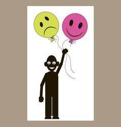 Men smiley-balloons vector