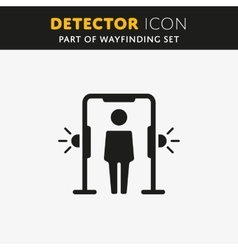 Metal detector arch icon vector