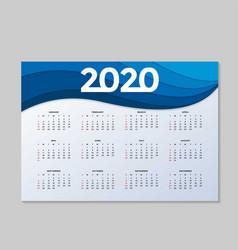modern corporate calendar background vector image