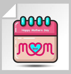 mothers day icons 10 vector image