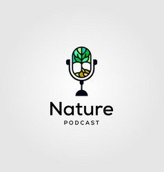 nature podcast logo icon design vector image