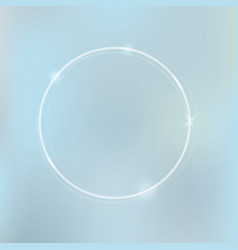 neon frame circke background vector image