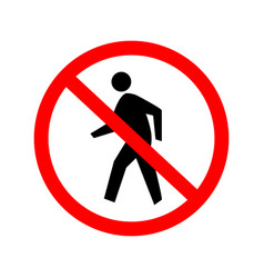 No entry sign authorised persons only vector