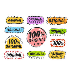 original stamp set labels and stickers for web vector image