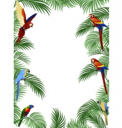Parrot frame vector