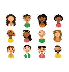 People characters national hispanic heritage flat vector