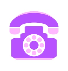 Phone symbol icon on white vector