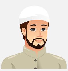 Portrait of a muslim man vector