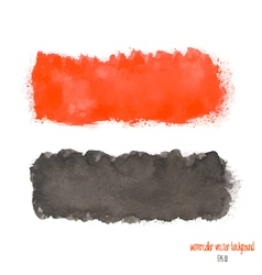 Red and black watercolor banner vector