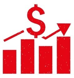 Sales Bar Chart Grainy Texture Icon vector
