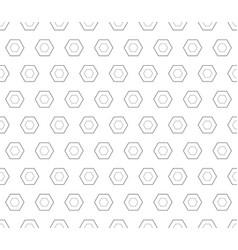 Seamless pattern black linear hexagons vector