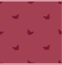 seamless pattern with pink chickens vector image
