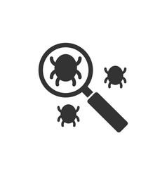 Search bug icon vector
