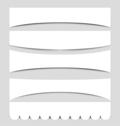 set banner shapes vector image